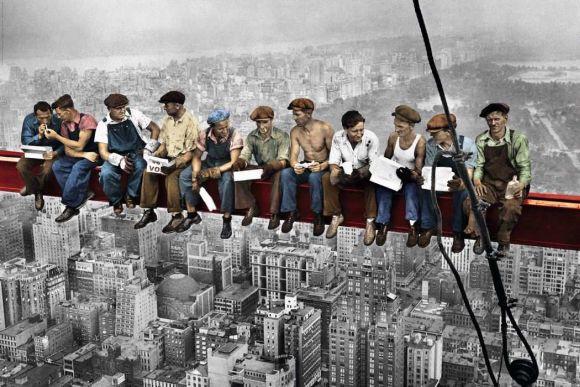 Fototapeta Robotnicy na belce